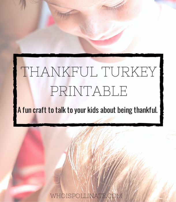 Thankful Turkey Printable
