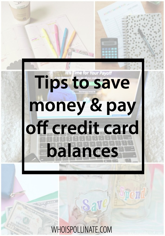 tips to save money and pay off credit cards