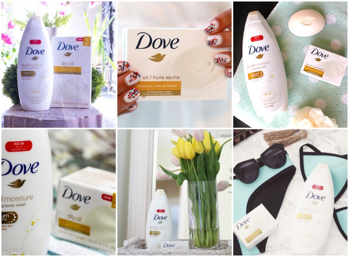 dove dry oil collage