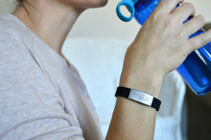 working out with road ID #RoadIDItsWhoIAm #RoadID #pMedia #ad