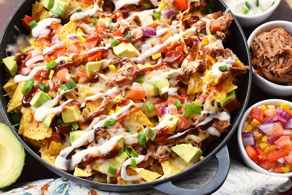 loaded bbq pork nachos smithfield prime fresh pork savvy saving couple