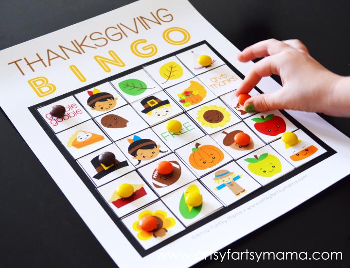Thanksgiving Bingo DIY